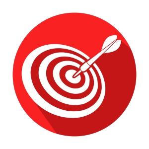 cono redondo target con sombra rojo